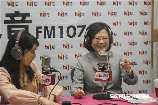 總統蔡英文接受周玉蔻專訪。 (圖/記者林敬旻攝)