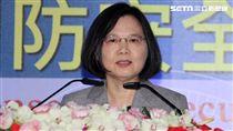 總統蔡英文出席國防安全研究院揭幕典禮 邱榮吉攝