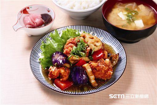 日本的定食連鎖餐廳「SACHI FUKU YA」料理。(圖/東元集團提供)