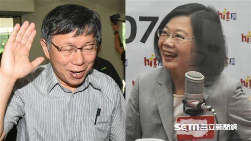 台北市長柯文哲、總統蔡英文。 (圖/記者林敬旻攝)