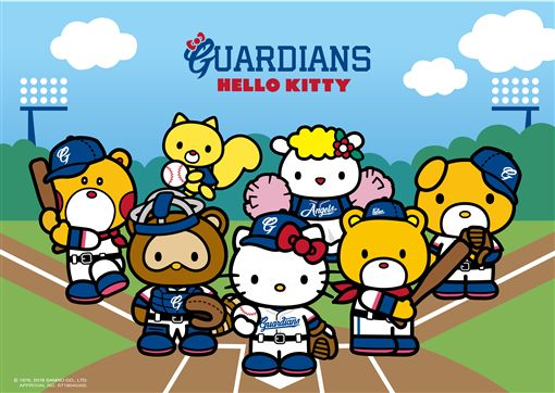Hello Kitty與富邦悍將聯名。(圖/球團提供)