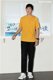 胡瓜23歲兒子胡釋安首次參演「20之後」連續劇就演男主角之一。(記者邱榮吉/攝影)
