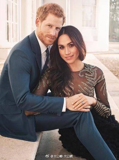 英國王子哈利將在本週六迎娶美國女星梅根馬可。(圖/翻攝自微博)