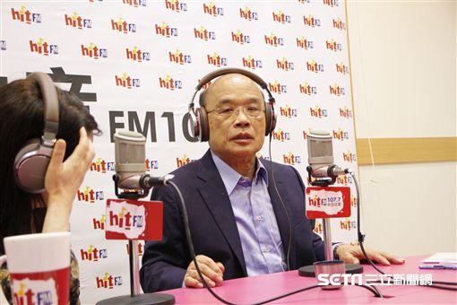 蘇貞昌上蔻蔻早餐 Hit Fm《蔻蔻早餐》製作單位提供