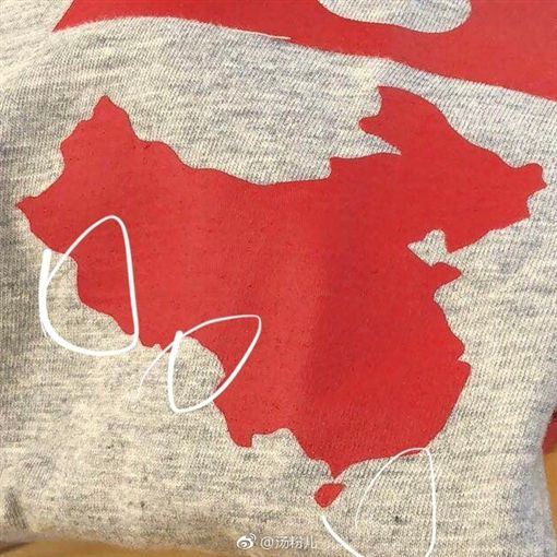 玻璃心碎了!中國地圖T沒有印台灣 GAP道歉了