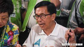 前總統陳水扁出席凱達格蘭基金會募款餐會。 (圖/記者林敬旻攝)