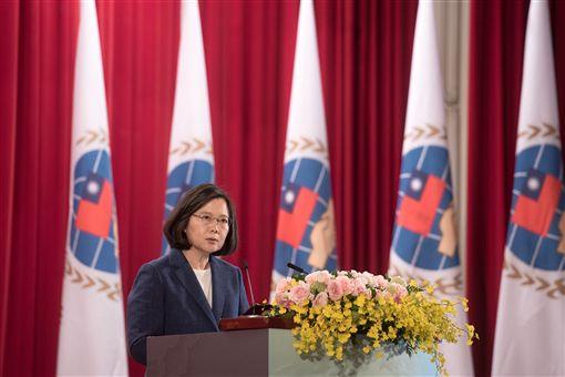蔡英文總統15日上午出席「107年僑務委員會議開幕典禮」。(圖/總統府提供)