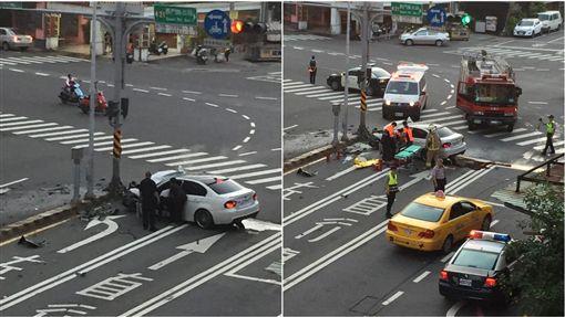 台南,BMW,車禍(翻攝自PTT)