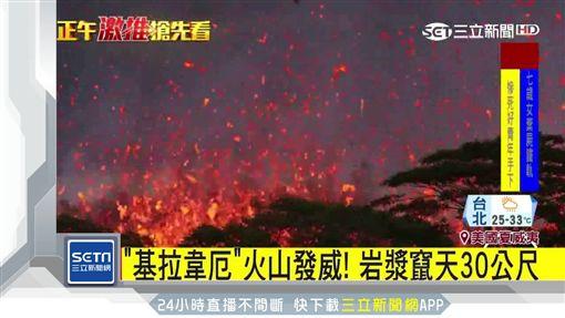 檀島火山驚現18裂縫! 狂噴岩漿炸彈,美國,夏威夷,基拉韋厄火山