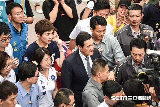 前總統馬英九出席「遷臺歷史記憶庫搶救計畫發布會」。 (圖/記者林敬旻攝)