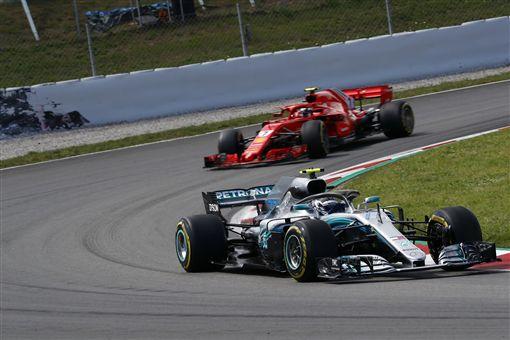 西班牙站由銀箭代表Mercedes-AMG Petronas Motorsport大獲全勝。(圖/Mercedes-Benz提供)