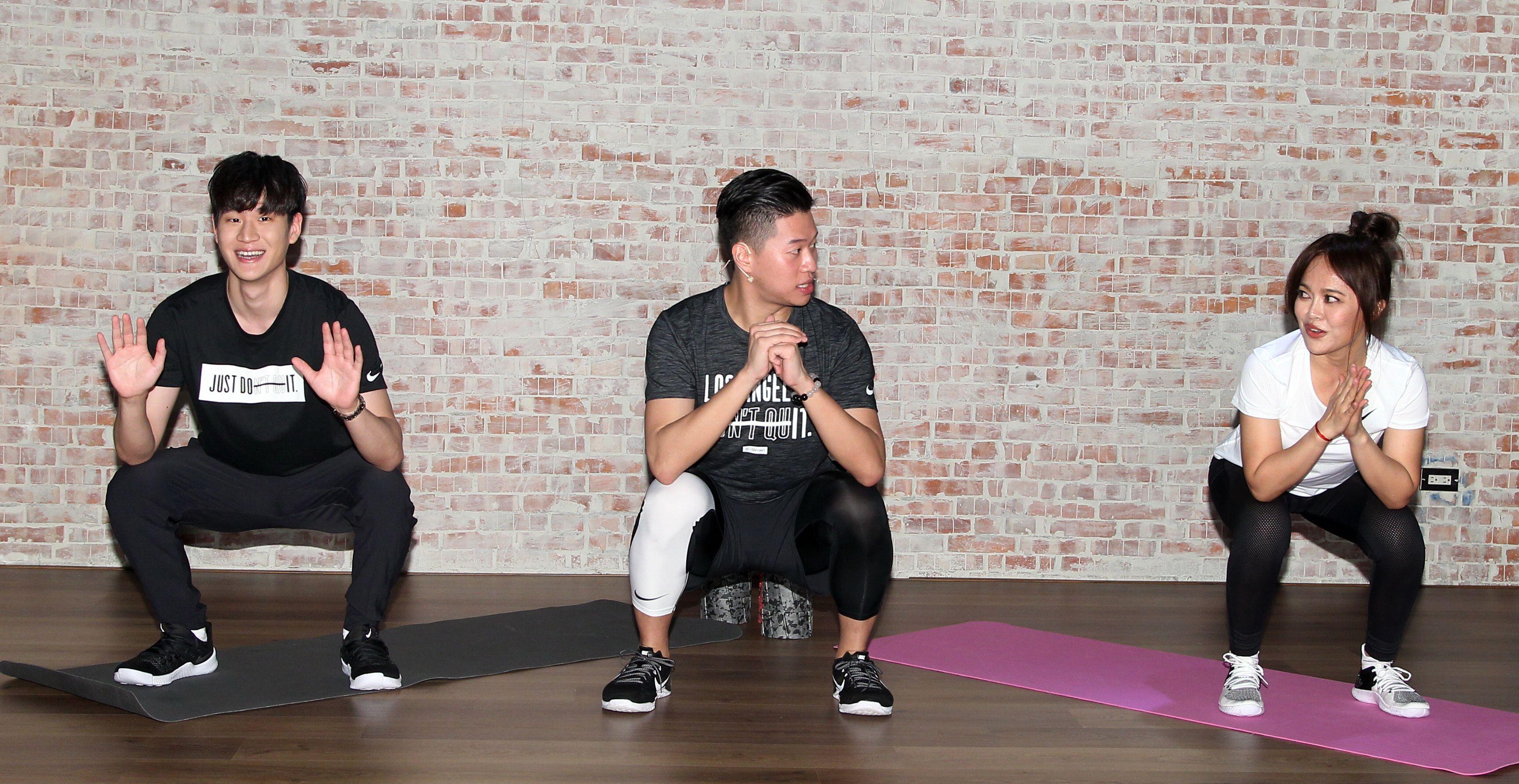2018 hito流行音樂獎周興哲戴愛玲暖身,體能訓練激發舞台爆發力。(記者邱榮吉/攝影)
