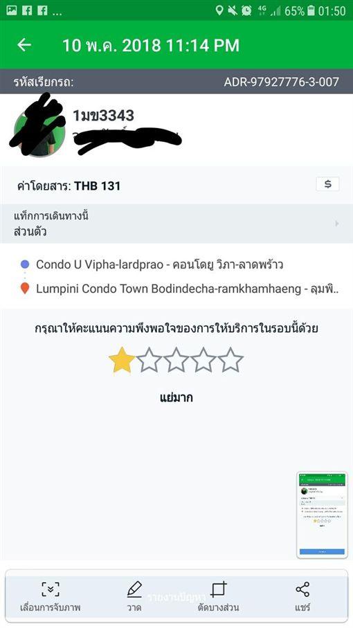 泰國,手機叫車,APP,變性人,正妹,Grab,性侵 圖/翻攝自臉書