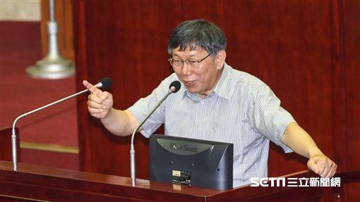 16:9台北市長柯文哲出席市議會專案報告。 (圖/記者林敬旻攝)