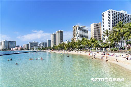 夏威夷,威基基海灘。(圖/樂天旅遊提供)