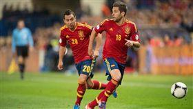 西班牙曾拿下2010年世界盃冠軍,是本屆世界盃奪冠熱門隊伍之一。 圖片來源:美聯社