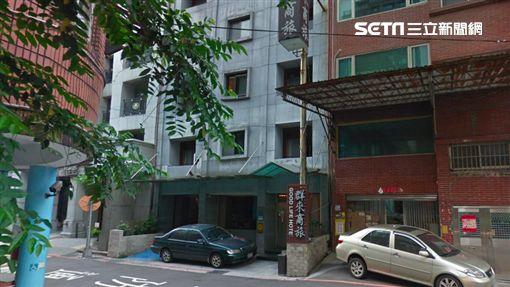 台北市「群來商旅」,王男帶前女友到華山附近旅館休息,被前女友控告涉嫌撿屍性侵。翻攝google map