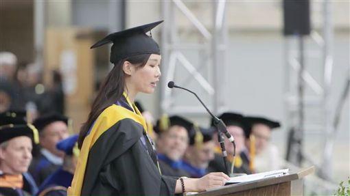 台灣來的葉采衢畢業致詞 創柏克萊大學150年紀錄翻攝自陽明大學網站