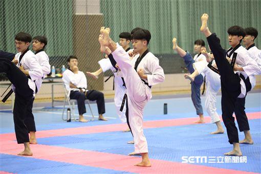 跆拳道「品勢」是首度被列入亞運競賽項目。(圖/劉忠杰攝影)