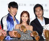 「前男友不是人」男女主角路斯明、楊丞琳、藍正龍。(記者邱榮吉/攝影)