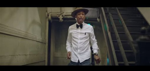 動畫電影「神偷奶爸2」(Despicable Me 2)中,菲瑞威廉斯(Pharrell Williams)的歌曲「快樂」(Happy),圖/翻攝自YouTube