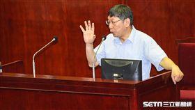 台北市長柯文哲。 (圖/記者林敬旻攝)