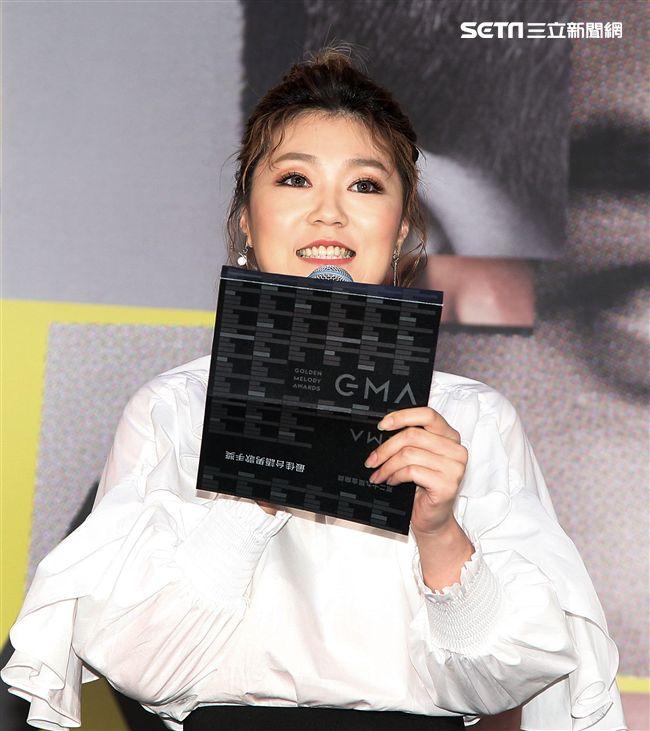曹雅雯公佈「第29屆金曲獎入圍名單」。(記者邱榮吉/攝影)