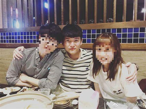 黃安22歲兒子黃子安將返台當兵,翻攝自微博