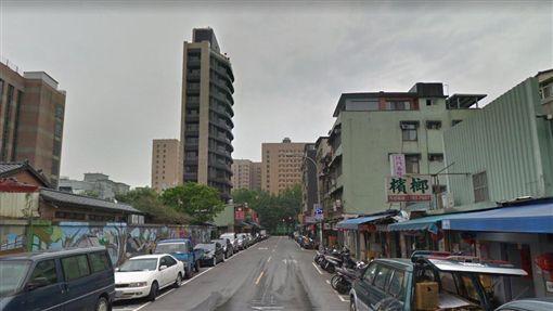 林森南路,施工,墜落,巷口(翻攝google map)