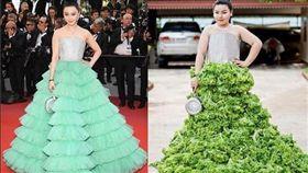 泰國一名服飾店老闆娘cosplay名人穿搭照。(圖/翻攝自Benjaphorn Chetsadakan IG)