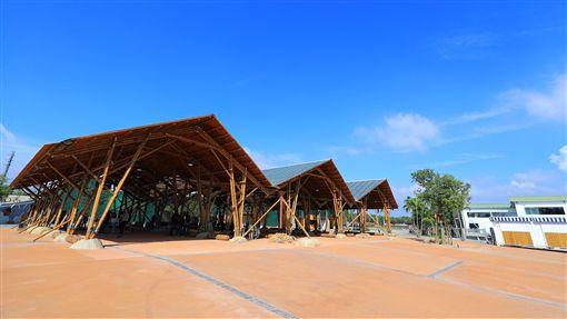 輕食竹棚外觀。圖片來源:台中市政府