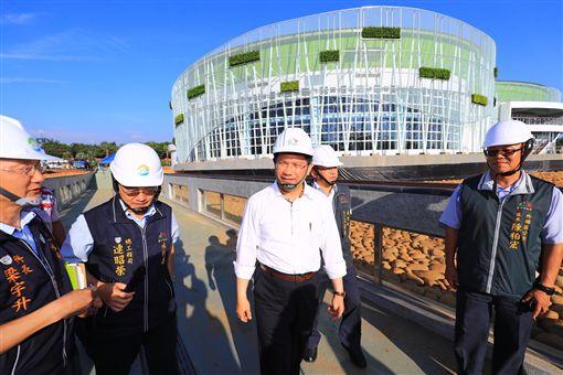 林佳龍視察分水步道。圖片來源:台中市政府
