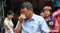 台北市長柯文哲出席斯文里三期拆除典禮。 (圖/記者林敬旻攝)