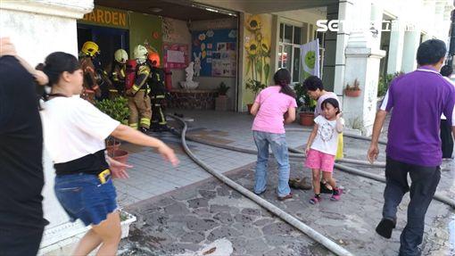 台南,火警,幼兒園,火災,頂樓,永康區(圖/翻攝畫面)
