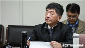 衛福部長陳時中出席衛環委員會質詢。 圖/記者林敬旻攝