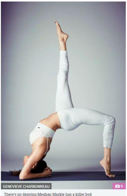 梅根愛好瑜珈,常在社群網站分享照片。(圖/The Sun)