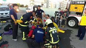 嘉義下水道工程驚傳意外!2工人突昏迷搶救中 圖翻攝畫面
