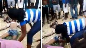 非洲一名強悍的女子,遇到性侵淫狼完全不怕,大膽將淫狼的命根子直接鋸下,就連在場的民眾也氣得拿東西往淫狼身上砸。其他網友看到影片後,紛紛直呼「#metoo的邏輯!」(圖/翻攝自《KAOTIC》)