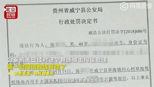 大陸,北京,駕訓班,開車,性騷擾,教練,襲胸 圖/翻攝自搜狐新聞