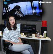齊柏林阿布電影公司攝影助理李欣彤。(記者邱榮吉/攝影)