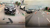 酒駕,闖紅燈,車禍,台南(翻攝畫面)
