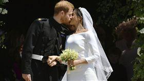 英國皇室哈利和梅根世紀婚禮、貝克漢(David Beckham)、維多莉亞(Victoria Beckham)、歐普拉(Oprah Winfrey)、喬治克隆尼(George Clooney)、小威廉絲(Serena Williams)、艾爾頓強(Elton John)/達志影像/美聯社