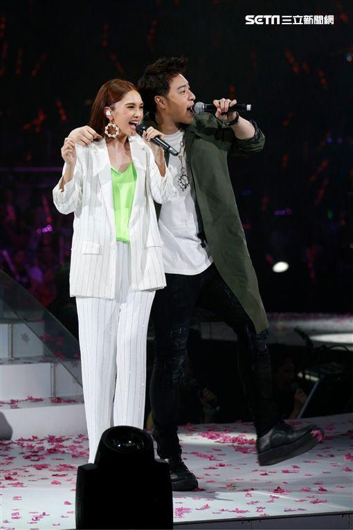 楊丞琳廣州演唱會,潘瑋柏擔任嘉賓(圖/太陽娛樂提供)