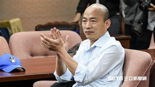 國民黨高雄市長參選人韓國瑜出席國民黨Y世代聯盟記者會。 圖/記者林敬旻攝