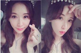 林志玲,爆乳白紗裙。(翻攝微博)