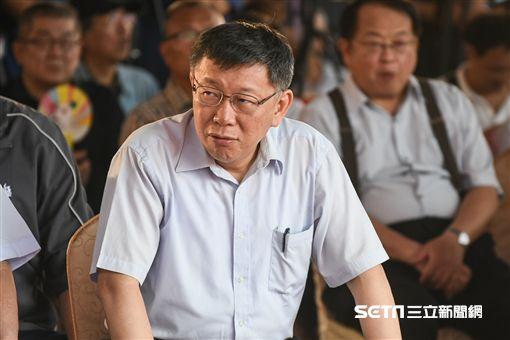 台北市長柯文哲主持環南市場上梁典禮。 (圖/記者林敬旻攝)