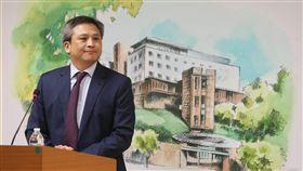梅健華宣布AIT新館落成美國在台協會(AIT)處長梅健華(Kin Moy),21日在美國文化中心主持記者會,宣布6月12日將在AIT內湖新館舉辦落成典禮。中央社記者鄭傑文攝 107年5月21日