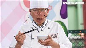 台北市長柯文哲出席環南市場上梁典禮。 (圖/記者林敬旻攝)