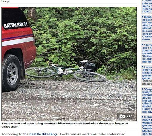 誤闖美洲豹地盤…美單車騎士遭攻擊1死1傷 圖/翻攝自每日郵報