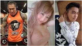 胖虎,陳睿纁,館長,陳之漢,T妹,Tiffany Chen(合成圖/翻攝自飆捍、胖虎、T妹臉書)